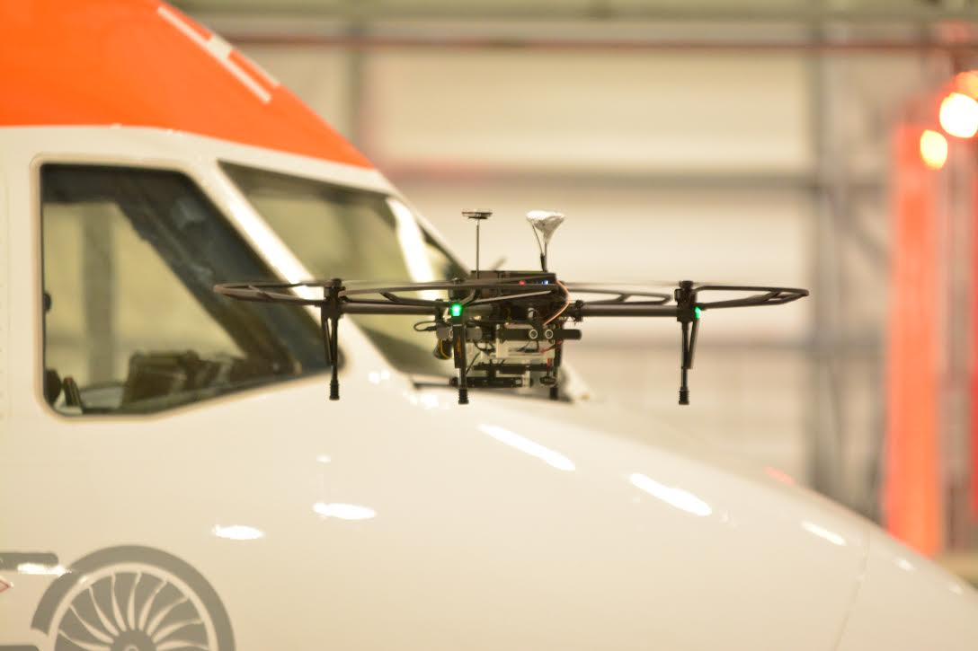 Rapid drone flying in hanger